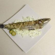 Fried mongoose fish