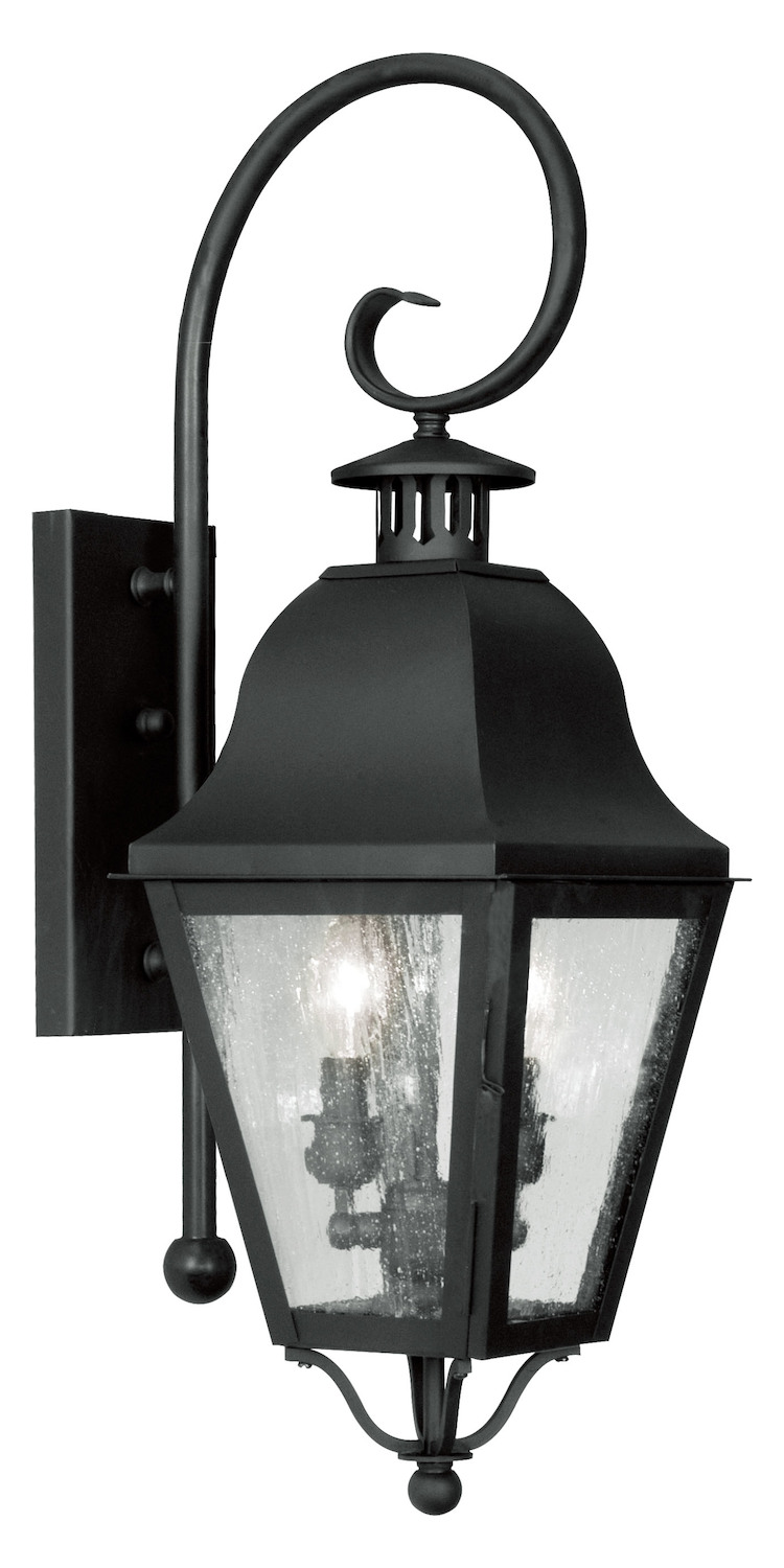 Livex Lighting Black Amwell Large Outdoor Wall Sconce With ... on Sconce Outdoor Lighting id=72466