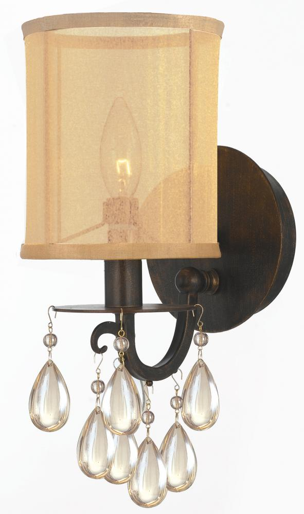 Crystorama Antique Brass Hampton 1 Light Candle Style Wall ... on Antique Style Candle Holder Sconces id=13002