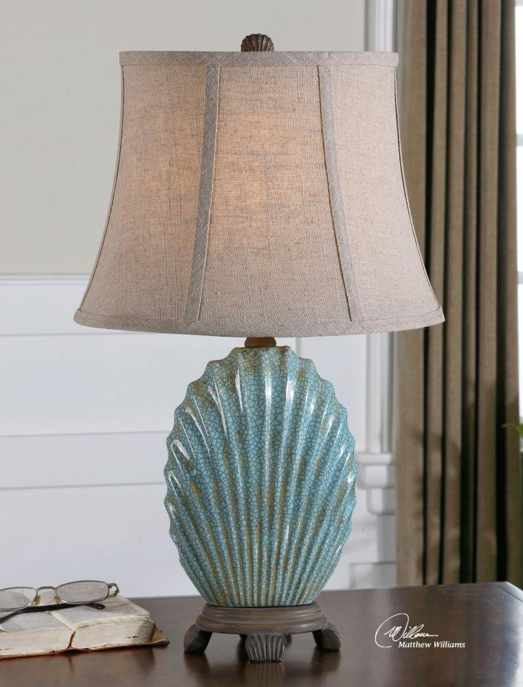 Uttermost Crackled Blue Seashell Table Lamp Crackled Blue 29321 From Seashell Collection