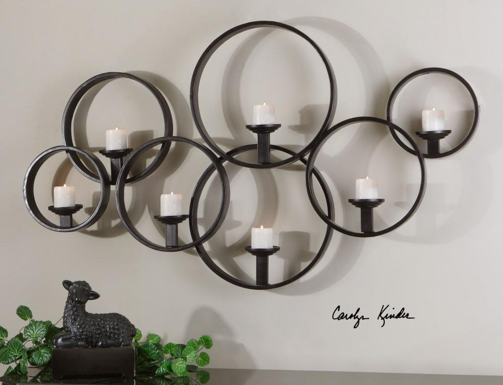 Uttermost Metal Wall Candle Holder Rustic Black 07617 From ... on Metal Candle Holders For Wall id=86999