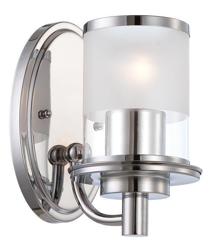 Designers Fountain Chrome Essence 1 Light Wall Sconce ... on Bathroom Wall Sconce Lighting id=53646