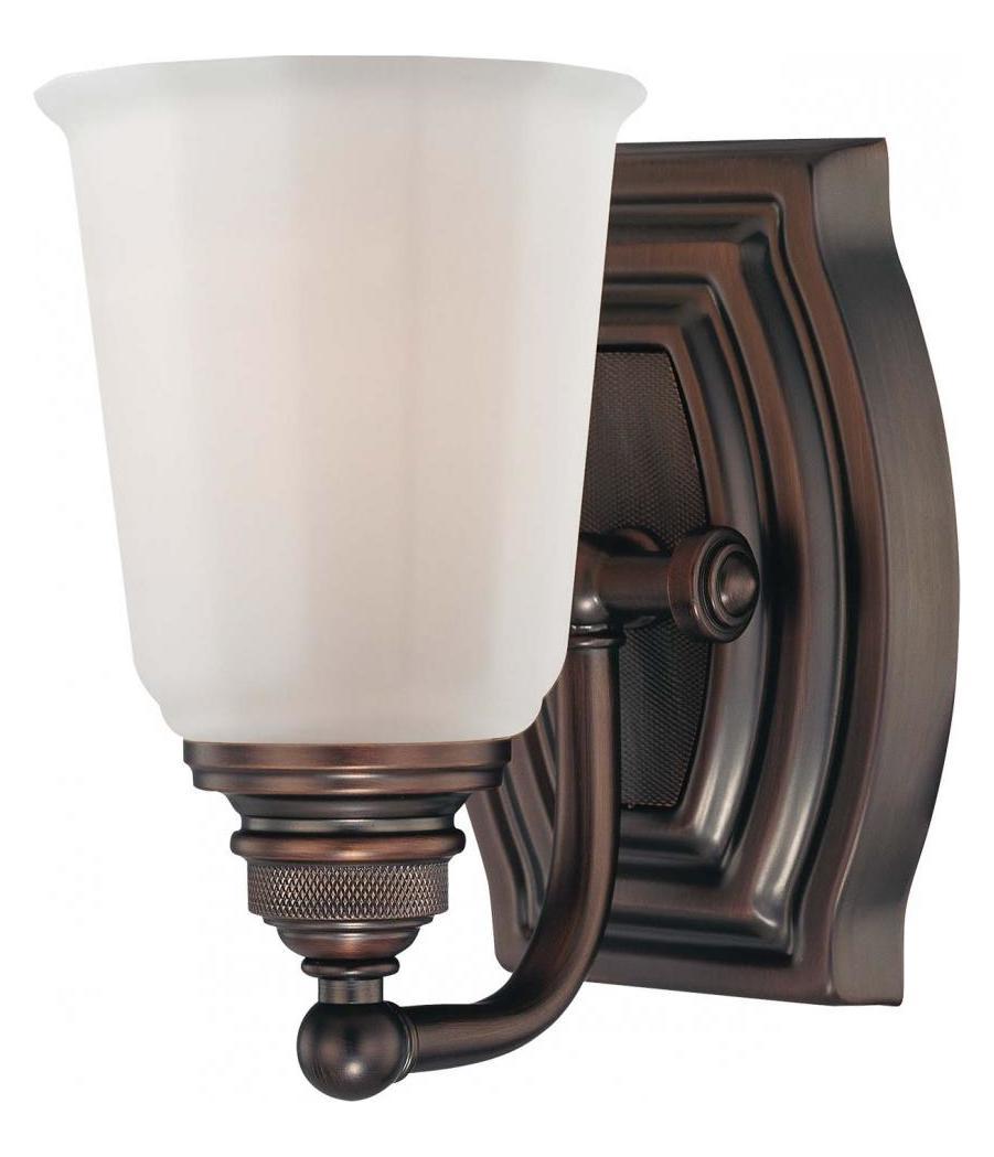 Minka-Lavery Dark Brushed Bronze 1 Light Bathroom Sconce ... on Bathroom Sconce Lights Brushed Bronze id=58692