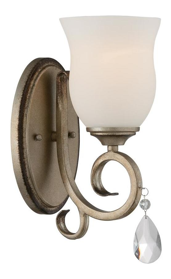 Designers Fountain Argent Silver Gala 1 Light Candle-Style ... on Silver Wall Sconces For Candles id=95544