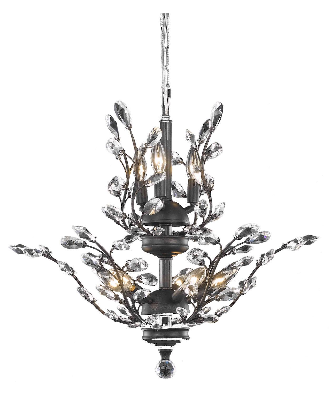 Elegant Lighting Dining Room Chandelier Dark Bronze Dark