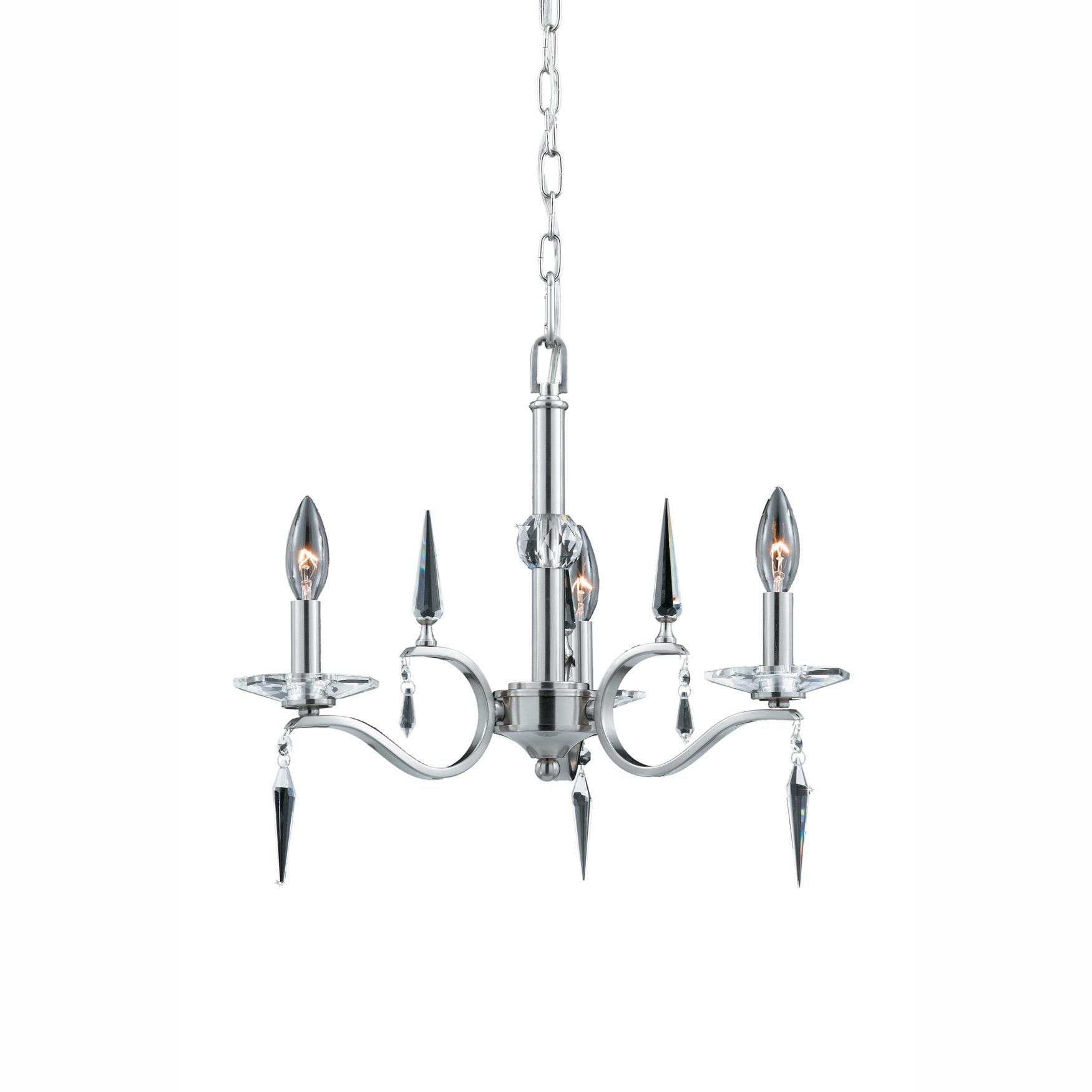 Lumenno Int Silhouette Collection 3 Light Mini Chandelier