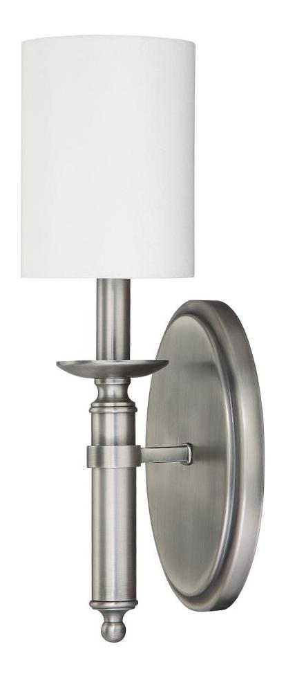 Capital Antique Nickel Covington 1 Light Candle-Style Wall ... on Antique Style Candle Holder Sconces id=92780