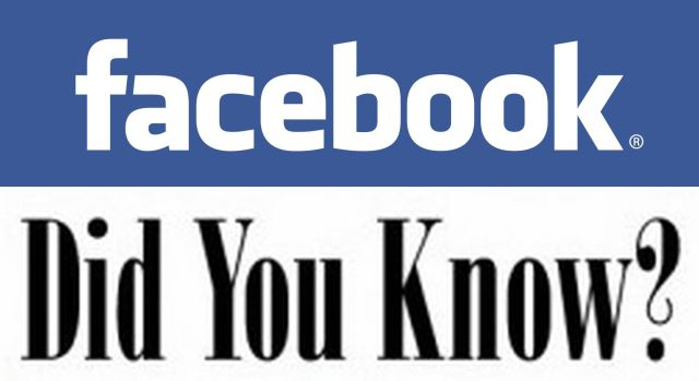Facebook Did you know