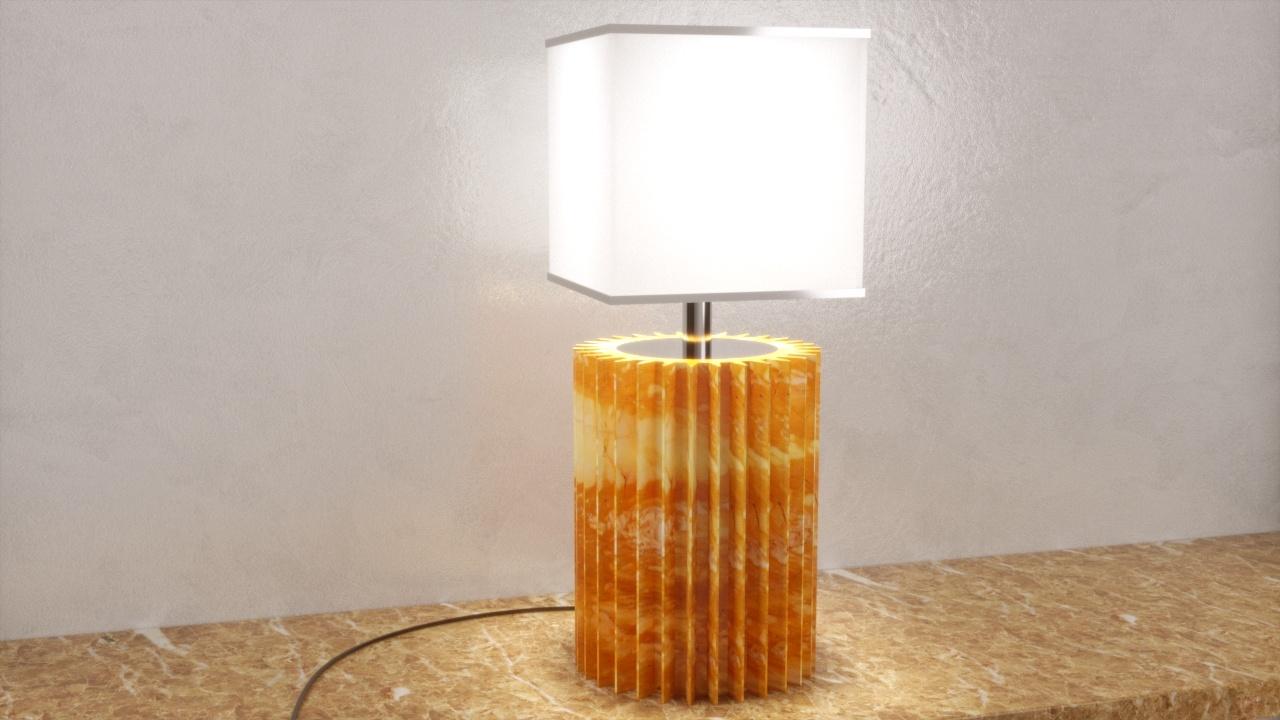 Paralume cilindro marmo chiaro giallo siena