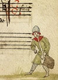 Człowiek orkiestra, czyli muzyk grający jednocześnie na bębnie i piszczałce jednoręcznej. Niezwykle popularny zestaw w muzyce tanecznej oraz marszowej.