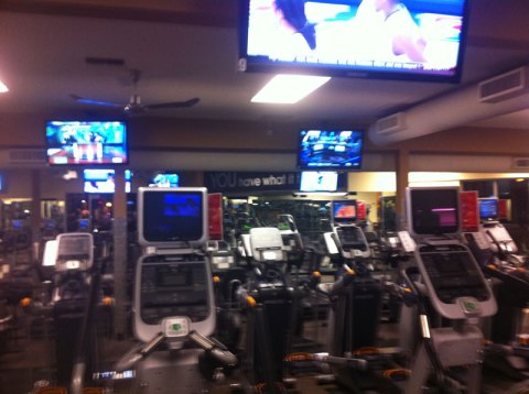Downstairs cardio area at 24 Hour Fitness