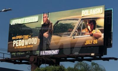 'Once Upon A Time' Billboard Vandalized w/ Polanski, Epstein