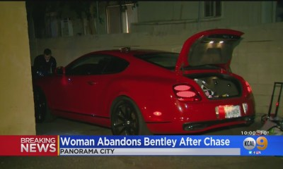LAPD In Search Of Driver Following Pursuit Of Red Bentley
