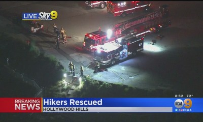 Firefighters Rescue 2 Hikers In Hollywood Hills