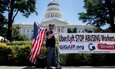 """Presidential candidates weigh in on California fight over """"gig"""" workers"""