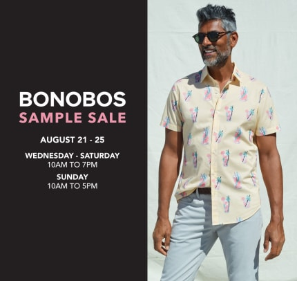 Bonobos + SPEKTRE Sample Sale, Aug 21st - 25th - Los Angeles