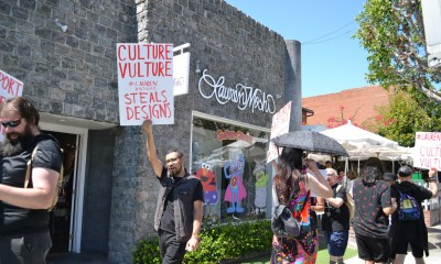 Protestors Accuse Designer Lauren Moshi of Being a 'Culture Vulture' Who 'Steals from POC Artists,' Hold Rally Outside Her Store in West Hollywood