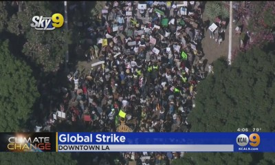 Hundreds Gather In Downtown LA For Global 'Climate Strike'