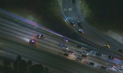 101 Freeway closed in Hollywood because of person threatening to jump