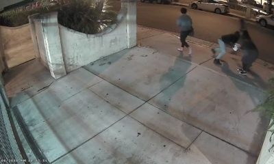 Three suspects sought in West Hollywood robbery caught on video