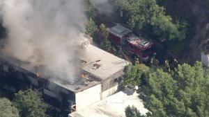 Firefighters Knockdown Blaze at Hollywood Hills Home