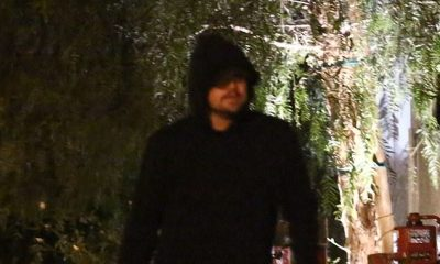 Leonardo DiCaprio attempts to dine incognito wearing a hooded sweatshirt for romantic night out with Camila Morrone in West Hollywood