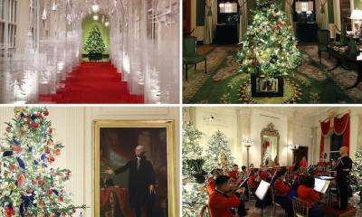 White House Christmas Decorations, Melania Unveils Patriotic Theme