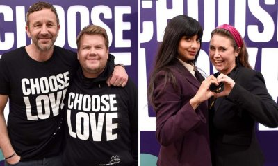 James Corden, Jameela Jamil, Chris O'Dowd Fete Choose Love Charity Pop-Up in WeHo