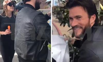 Scott Eastwood Busted Trying To Take Down Protesters' Signs