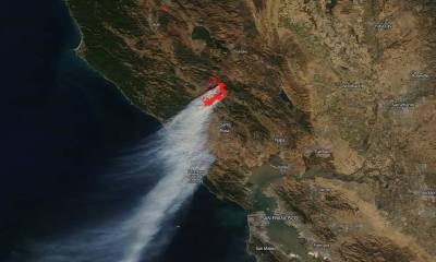 Fires, floods and more: A view of California from space in 2019