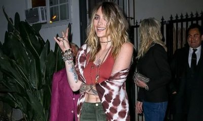 Paris Jackson wows in a 70s-inspired bohemian ensemble as she parties with Jennifer Aniston and Courteney Cox at Sara Foster's birthday dinner