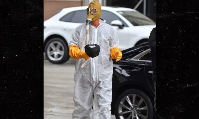 Howie Mandel Arrives to 'AGT' Wearing Hazmat Suit, Gas Mask