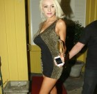 Courtney Stodden, WeHo's Princess Die, Dons Leopard to Dine at Dan Tana's
