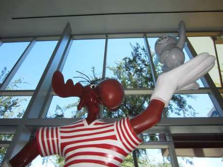 Rocky has joined Bullwinkle in the lobby of West Hollywood's City Hall.  (Photo courtesy of Dan Morin)
