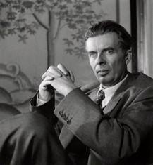 Aldous Huxley in photo from the 1950s (Photo by John Gray, courtesy of the National Portrait Gallery, London)