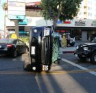 Three-Car Accident Blocks Eastbound Traffic on Sunset