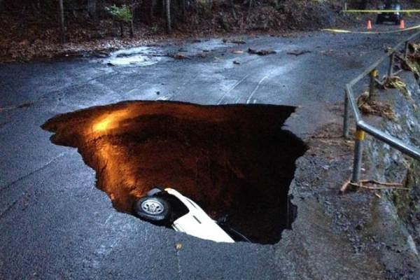 Sinkhole (not to be confused with stink hole)