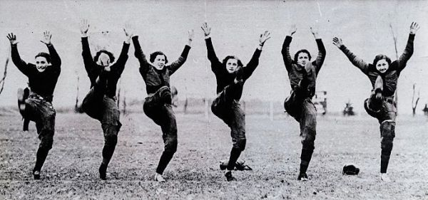 Women ruining football in the 1920s. Click for more info.