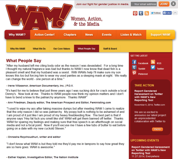 Click for larger version. Not an actual page on WAM!'s website.