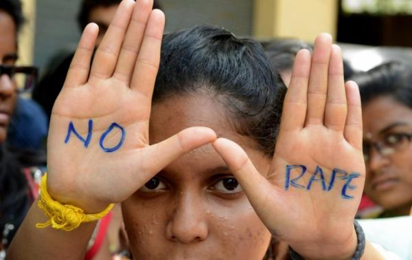 Protesters at anti-rape demonstration in India