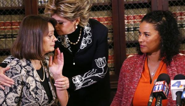 Two of Bill Cosby's accusers, with attorney Gloria Allred