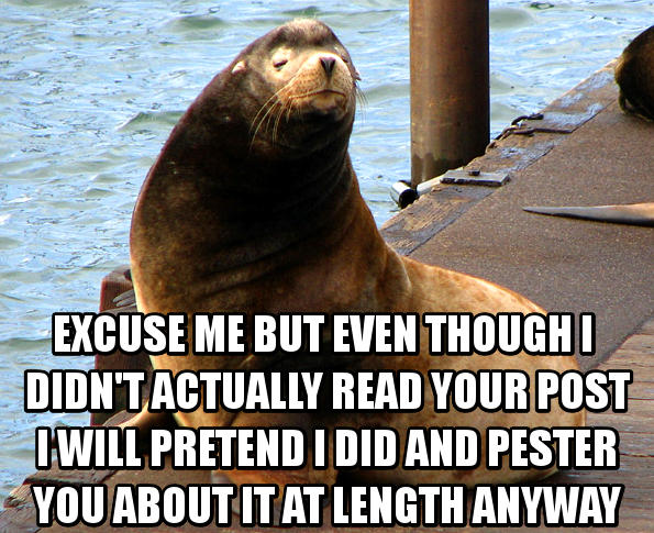 Actually if Internet sea lions were this cute I wouldn't mind them