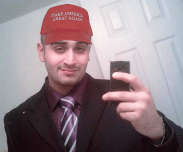Photoshopped Omar Mateen selfie, found on The Daily Storner