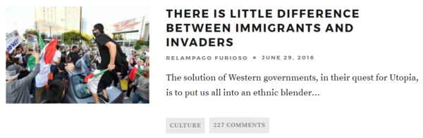THERE IS LITTLE DIFFERENCE BETWEEN IMMIGRANTS AND INVADERS