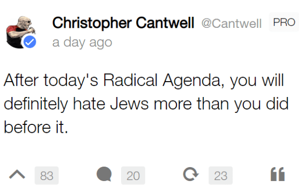 After today's Radical Agenda, you will definitely hate Jews more than you did before it.