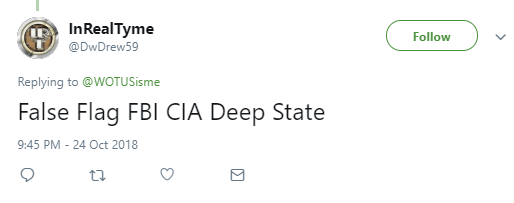 InRealTyme  @DwDrew59 Follow Follow @DwDrew59 More Replying to @WOTUSisme False Flag FBI CIA Deep State