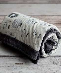 Custom Weighted Blanket Ash/Little Lambs Combo Roll