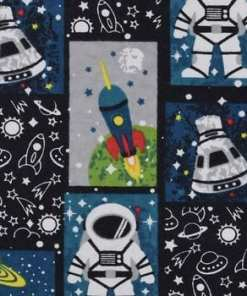 Space Mission Flannel Swatch