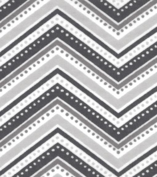 Gray Chevron Flannel Swatch