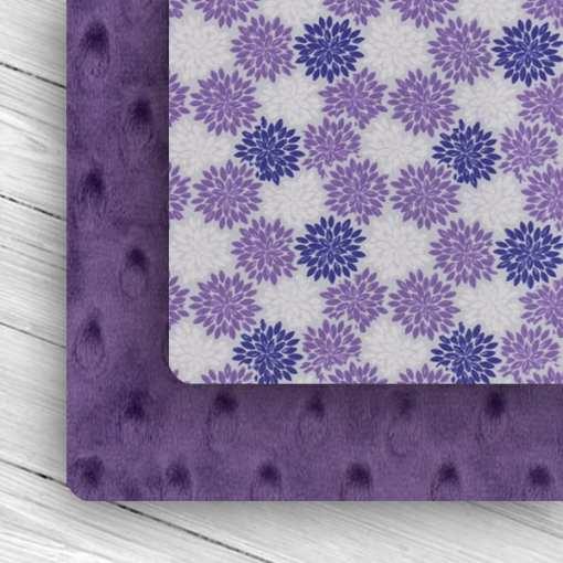 Custom Weighted Blanket Amethyst/Purple Flower Combo